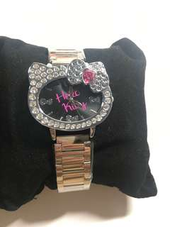 HELLO KITTY水鑽頭手錶