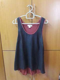 Cotton On Burgundy Gliterry Tank Top