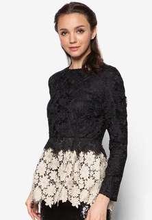 Zalia Crochet Lace Top