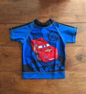 Disney Cars Short Sleeve Rash Guard (TOP)
