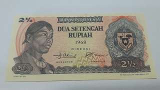Two and half rupiah 1968