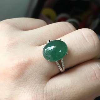 18K鑽石天然A貨藍水戒指