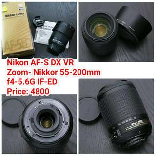 Nikon AF-S DX VR Zoom- Nikkor 55-200mm f4-5.6G IF-ED