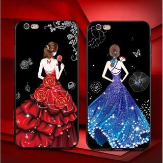 Fashion case gaun pengantin iphone x,5,6,7,8 plus redmi5,5+,2,3s,4,4a,4x,5a,note5a,note 4
