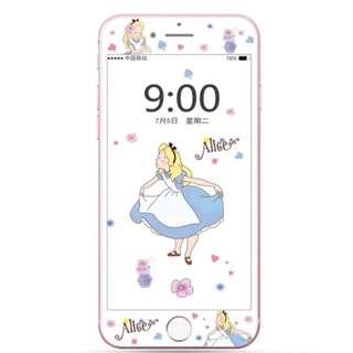 IPhone6/7/8/plus(沒有X) : 愛麗絲公主3D軟邊鋼化膜