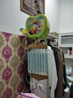 electronic baby cradle (new)   free buaian (used)