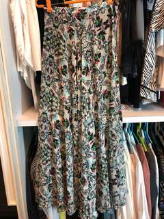Topshop floral maxi skirt