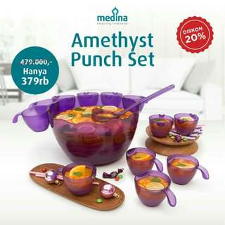 Amethyst Punch Set