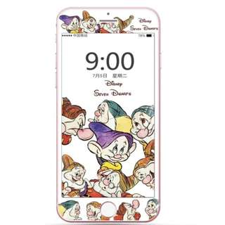 IPhone6/7/8/plus(沒有X) : 七個小矮人3D軟邊鋼化膜
