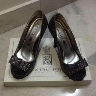 Zang Toi Black Glitter Heel