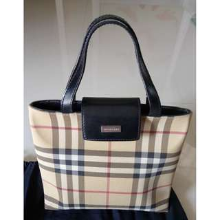 Authentic Burberry Tan Nova Check Mini Tote