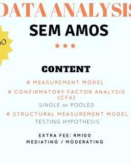 Data analysis SEM AMOS OR SMART PLS