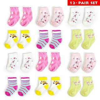 1 dozen Baby Socks - GIRLS