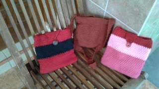Knit Mini Pouch with strap