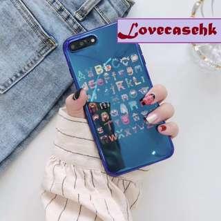 手機殼IPhone6/7/8/plus/X : 芝麻街家族藍光全包黑邊軟殼