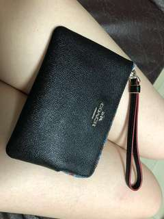 Coach 小手包銀包散紙包 99%新 特價 wristlet 正品 card coins to wallet