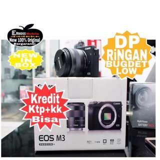 Canon EOS M3 Kit EF-M15-45MM Resmi-cash/kredit Dp 1jt ditoko ktp+kk wa;081905288895