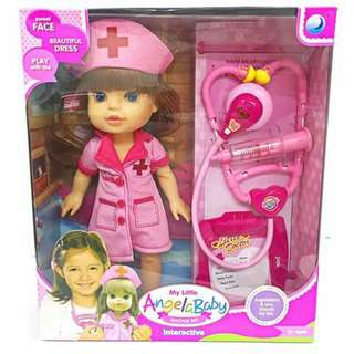 My Little Angela Baby Nurse Doll - PINK