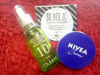 It's Skin VB Effector and Nivea Creme