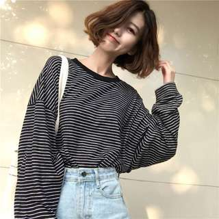 PO Long Sleeve Striped top