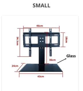 TV Stand come with bracket for display up to 32""