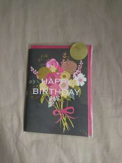 Happy birthday flowery card
