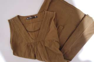 Oxygen Camel Brown Long Top