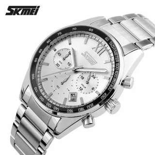 SKMEI Seize Putih - Jam Tangan Pria - Rantai Stainless Steel