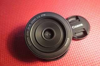 Lensa Fix Mirrorless Canon 22mm f2 STM