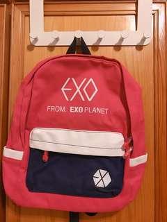 Exo 後背包 粉紅色包
