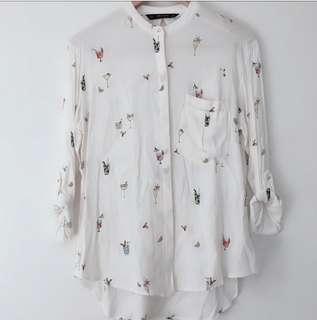 Zara printed blouse