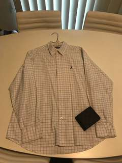 Nautica Dress Shirt (White:Large)