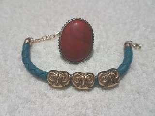 Bracelet + ring set   vintage edit