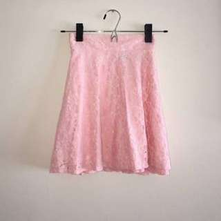 Repriced: Topshop Peach Lace Skirt