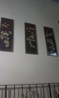 3D oriental large 4 art pieces set
