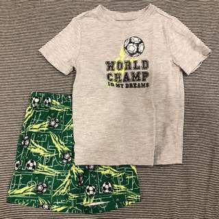 🚚 Gymboree 小男童足球睡衣居家服套裝 - 2T