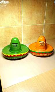 Chico's N Charlie's ( Vintage Coins Bank) Mexican Hat.