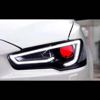 Mitsubishi Lancer Ex / Evolution X Audi Styled Headlight / Taillight