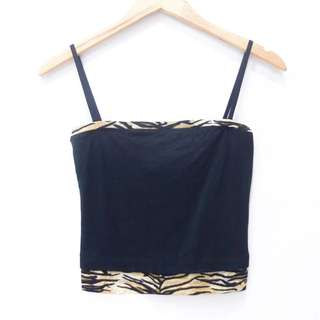BH818 SIZE S TANKTOP STRAP KEMBEN GUESS BLACK FASHION WANITA IMPORT