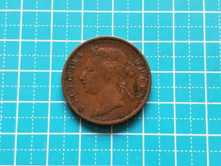 1901 Strait settlement Queen Victoria one cent coin