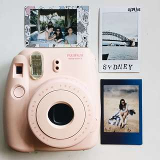 Pink Instax Mini Polaroid