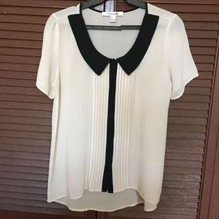 F21 Cream Sheer Top