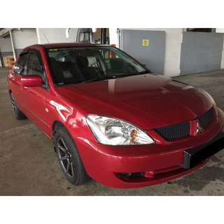 25/05/2018-28/05/2018 MITSUBISHI LANCER MANUAL ONLY $165.00 (P PLATE WELCOME)