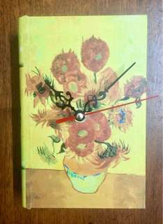 Table Clock Book Shaped with Jewlery Box