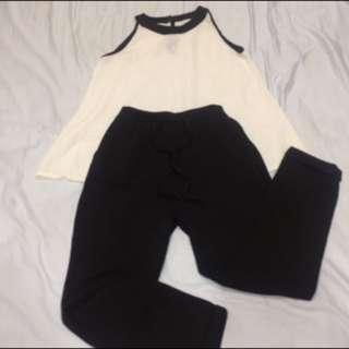 🚚 黑白兩件式褲裝#一百元好物