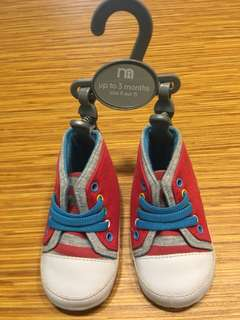 Mothercare preloved shoes. Condition like new. Size up to 3 months.
