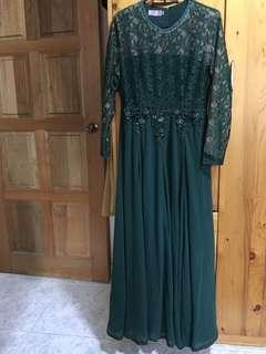 Chiffon dress lace with beads