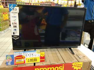 "Kredit led tv panasonic 32"". Promo free 1x angsutan"