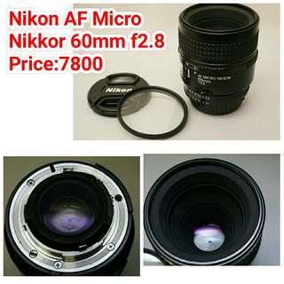 Nikon AF Micro  Nikkor 60mm f2.8