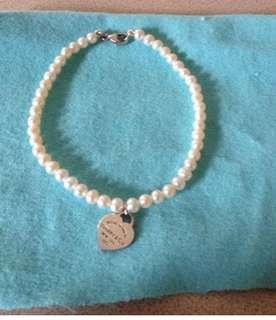 Tiffany pearl and silver bracelet